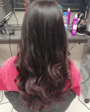 Балеаж на Дълга коса