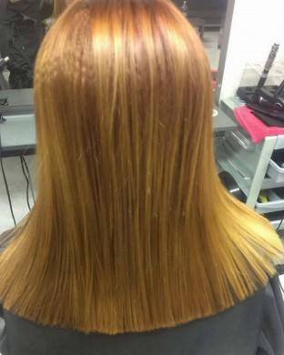 Балеаж на Средно дълга коса